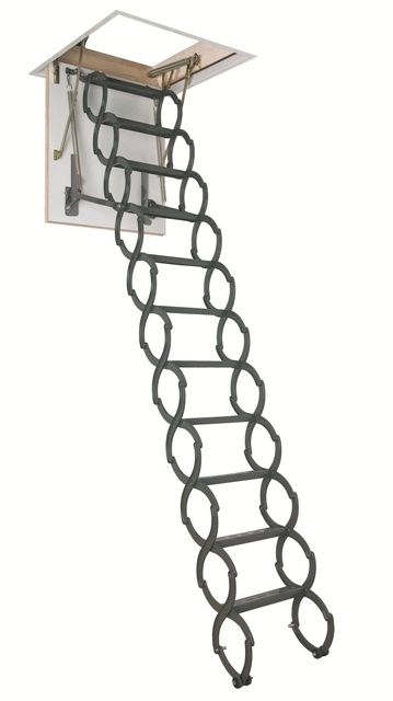 Металлические складные чердачные лестницы.