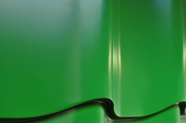 Металлочерепица руфлайн, цвет зеленый 6002