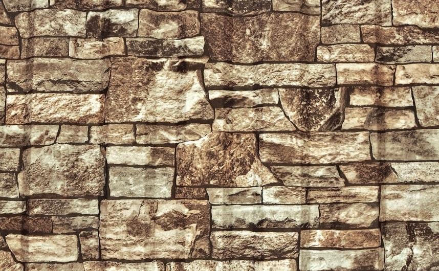 фото профнастил под камень