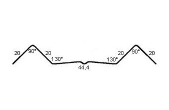 штакетник - схема профиля