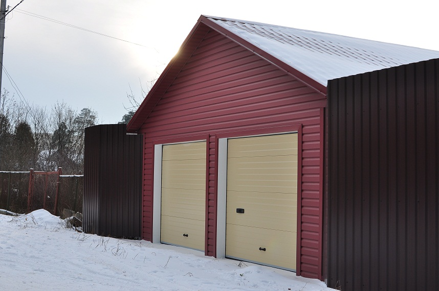 Проект гаража на две машины