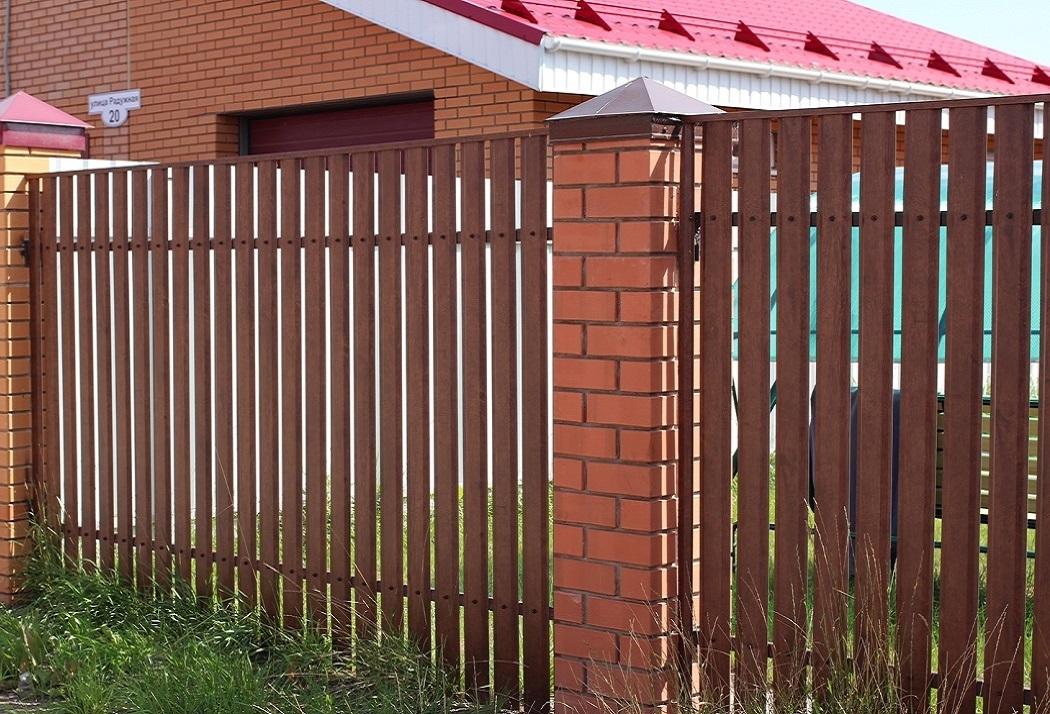 штакетник Гранд Лайн металлический на забор