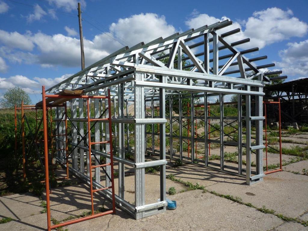 Гараж металлический проекты интернет магазин металлические стеллажи для гаража